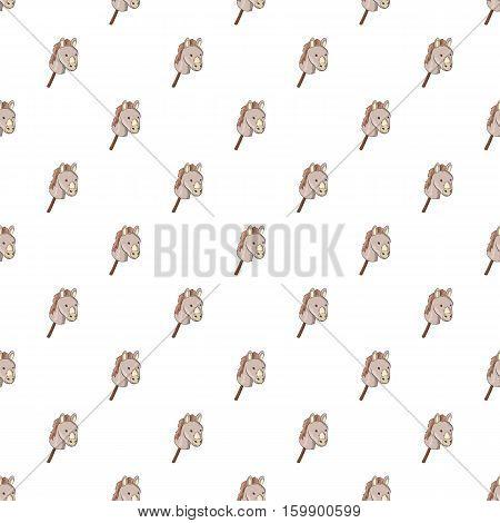 Toy donkey pattern. Cartoon illustration of toy donkey vector pattern for web