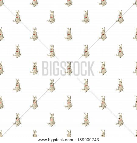 Toy bunny pattern. Cartoon illustration of toy bunny vector pattern for web