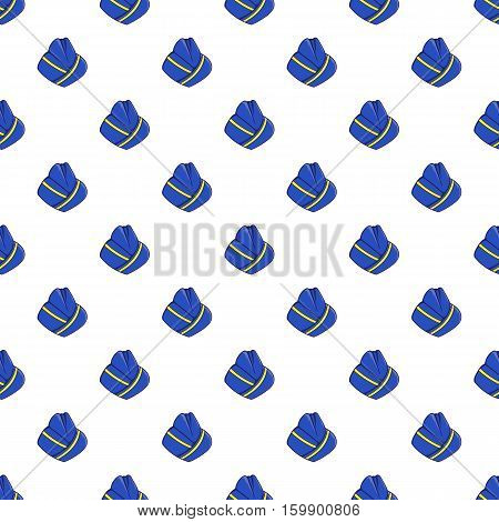 Hat stewardess pattern. Cartoon illustration of hat stewardess vector pattern for web