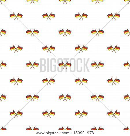 Flag of Germany pattern. Cartoon illustration of flag of Germany vector pattern for web