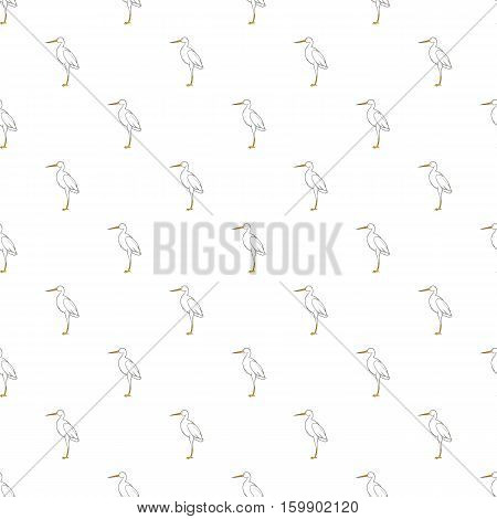 Stork pattern. Cartoon illustration of stork vector pattern for web