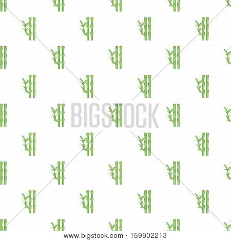 Bamboo pattern. Cartoon illustration of bamboo vector pattern for web