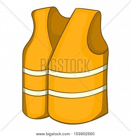 Reflective vest icon. Cartoon illustration of reflective vest vector icon for web design