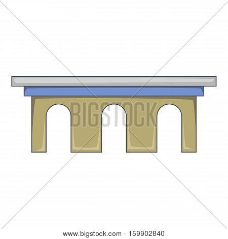 Iron bridge icon. Cartoon illustration of bridge vector icon for web design