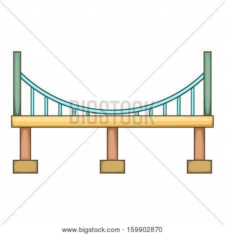 Big bridge icon. Cartoon illustration of bridge vector icon for web design
