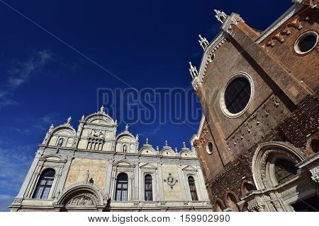 Renaissance Great School of Saint Mark with medieval Saints John and Paul Basilica in Venice