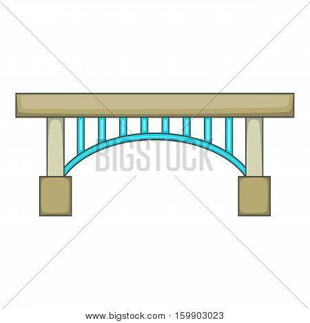 Narrow bridge icon. Cartoon illustration of bridge vector icon for web design