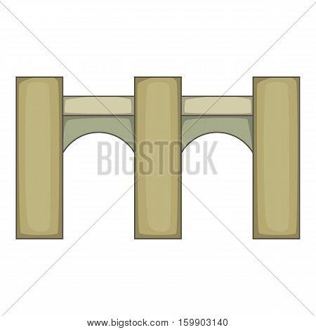 High bridge icon. Cartoon illustration of bridge vector icon for web design
