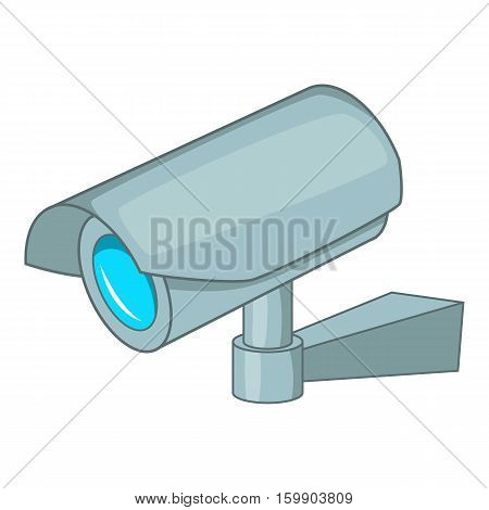 Surveillance camera icon. Cartoon illustration of surveillance camera vector icon for web design