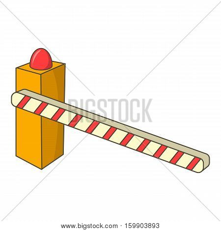 Parking barrier icon. Cartoon illustration of parking barrier vector icon for web design