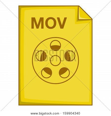 MOV file icon. Cartoon illustration of MOV file vector icon for web