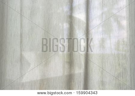 abstract white fabric curtain transparent ro coconut view - can use to display or montage on product