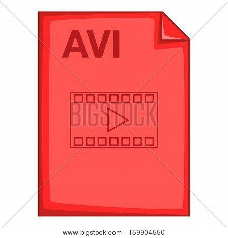 AVI file icon. Cartoon illustration of AVI file vector icon for web