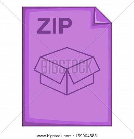ZIP file icon. Cartoon illustration of ZIP file vector icon for web