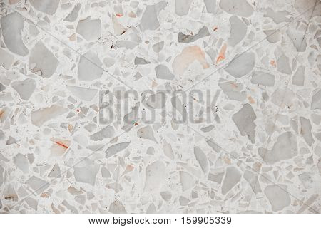 Terrazzo floor stone wall texture marble surface background pattern and color