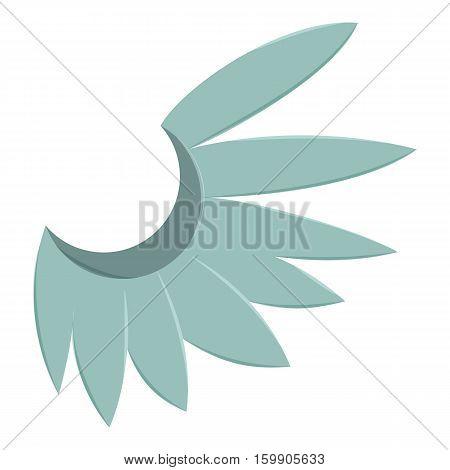 Blue wing of bird icon. Cartoon illustration of blue wing of bird vector icon for web
