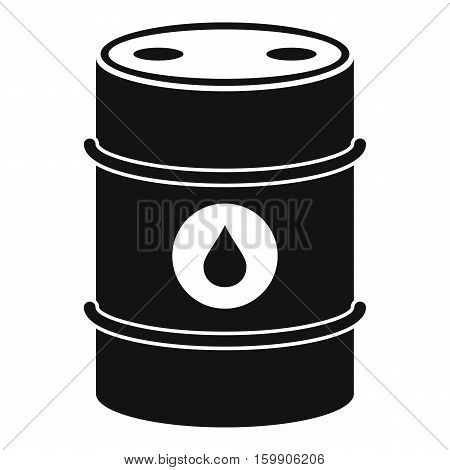 Metal oil barrel icon. Simple illustration of metal oil barrel vector icon for web