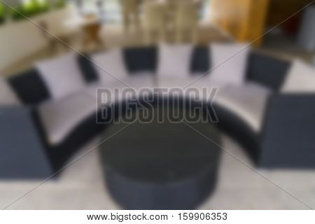 abstract blur of sofa and breakfast conner for relax time - can use to display or montage on product