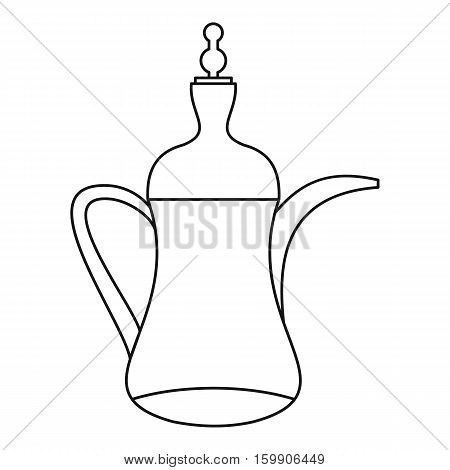 Arabic coffee pot icon. Outline illustration of arabic coffee pot vector icon for web