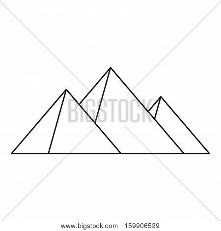 Great pyramids icon. Outline illustration of Geat pyramids vector icon for web