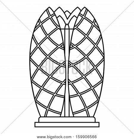 Emirates towers icon. Outline illustration of Emirates towers vector icon for web