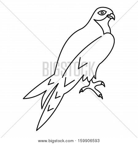 Arabian falcon icon. Outline illustration of arabian falcon vector icon for web