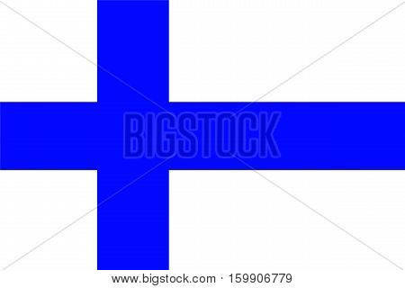 Finnish flag is a symbol of the country.