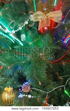 Christmas decoration to create a greeting card.