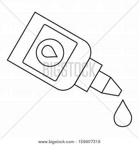 Eye drops bottle icon. Outline illustration of eye drops bottle vector icon for web