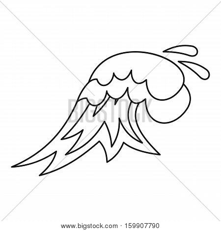 Big wave icon. Outline illustration of big wave vector icon for web