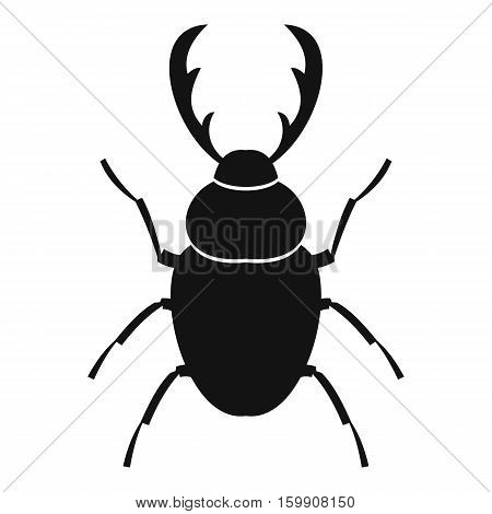 Stag beetle icon. Simple illustration of stag beetle vector icon for web