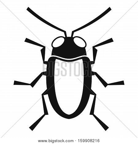 Longhorn beetle grammoptera icon. Simple illustration of longhorn beetle grammoptera vector icon for web