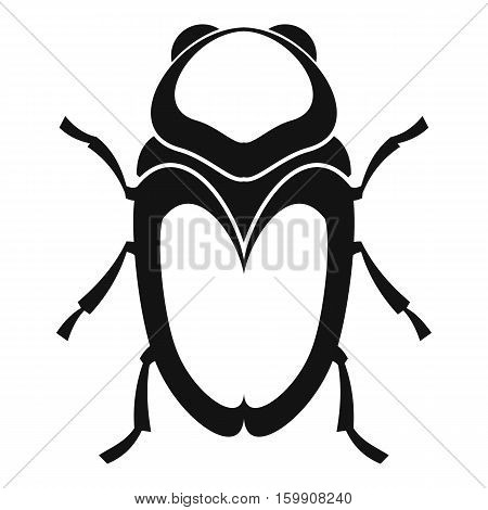 Scarab beetle icon. Simple illustration of scarab beetle vector icon for web