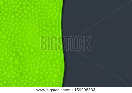 illustration of green color bubbled slime with shadow on dark background