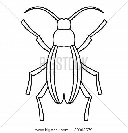Longhorn beetle grammoptera icon. Outline illustration of longhorn beetle grammoptera vector icon for web