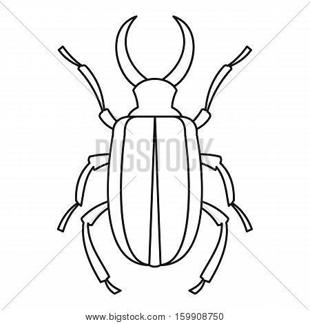 Lucanus cervus beetle icon. Outline illustration oflucanus cervus beetle vector icon for web