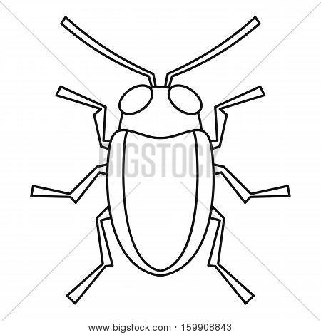 Cereal leaf beetle icon. Outline illustration of cereal leaf beetle vector icon for web