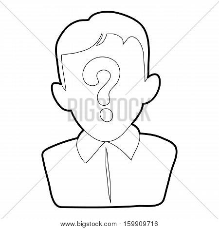 Man question icon. Outline illustration of man question vector icon for web