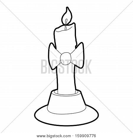 Candle icon. Outline illustration of candle vector icon for web