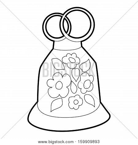 Wedding cake icon. Outline illustration of wedding cake vector icon for web