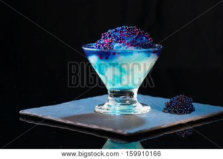 Colorful cocktails molecular alcohol bar blend c