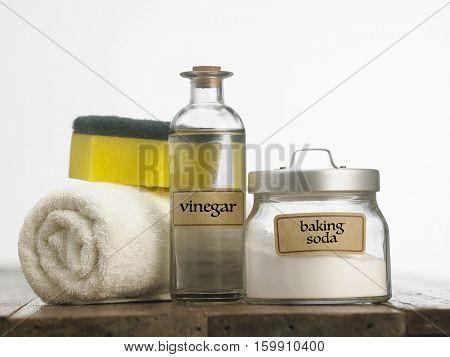baking soda with white vinegar poster