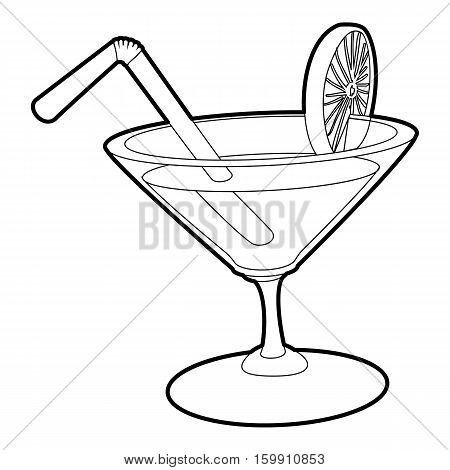 Cocktail icon. Outline illustration of cocktail vector icon for web