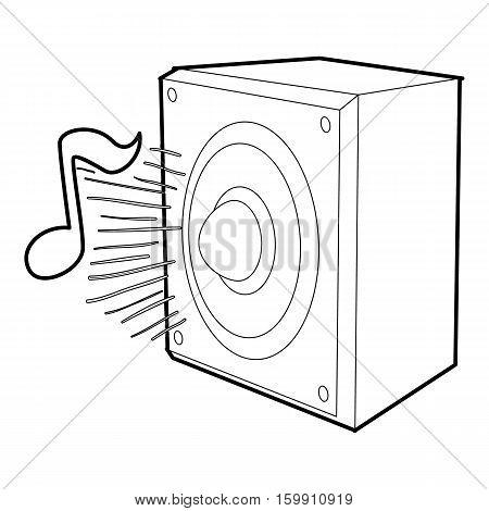 Radio icon. Outline illustration of radio vector icon for web