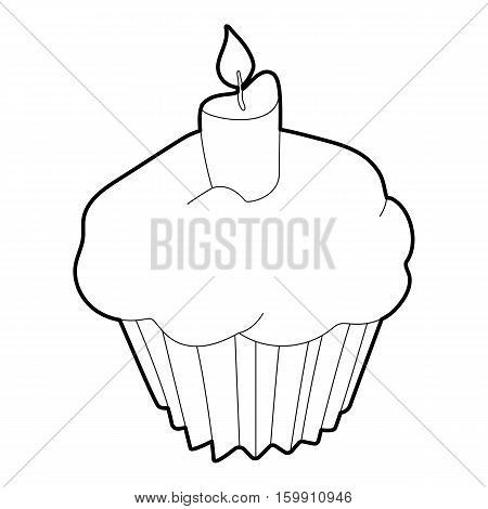 Muffin icon. Outline illustration of muffin vector icon for web
