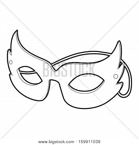 Mask icon. Outline illustration of mask vector icon for web