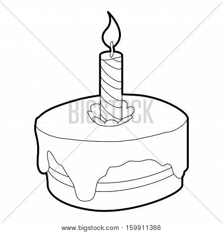 Cake icon. Outline illustration of cake vector icon for web