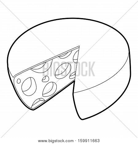 Cheese icon. Outline illustration of cheese vector icon for web