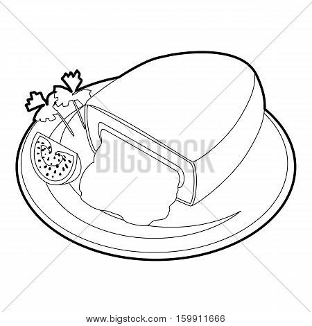 Kiev cutlet icon. Outline illustration of kiev cutlet vector icon for web
