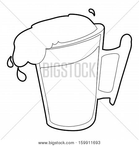 Beer icon. Outline illustration of beer vector icon for web